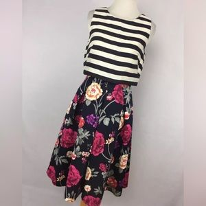 Moulinette Soeurs 0 Dress Split Print Stripe